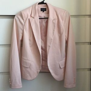 Light Pink/Blush Fitted Blazer